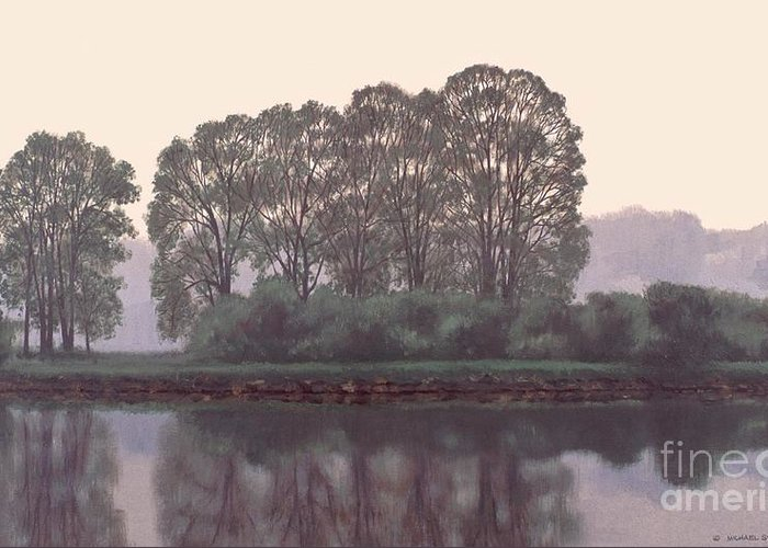 Grand River Greeting Card featuring the painting Grand River Sentinels by Michael Swanson
