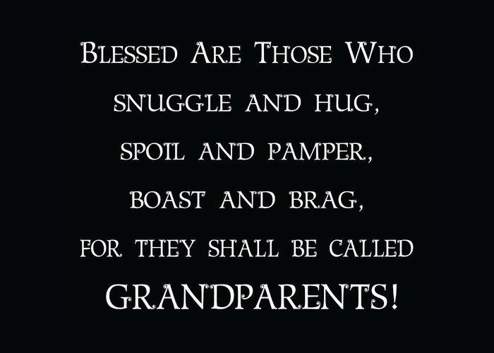 Grandparents Greeting Card featuring the digital art Grandparents by Jaime Friedman