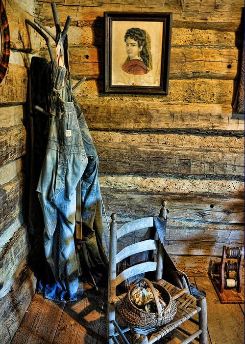 Still Life Greeting Card featuring the photograph Grandpa's Closet by Jan Amiss Photography