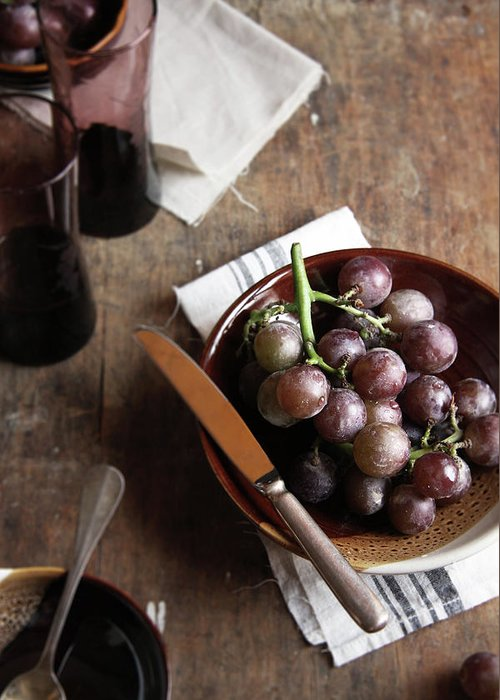 Spoon Greeting Card featuring the photograph Grape by 200