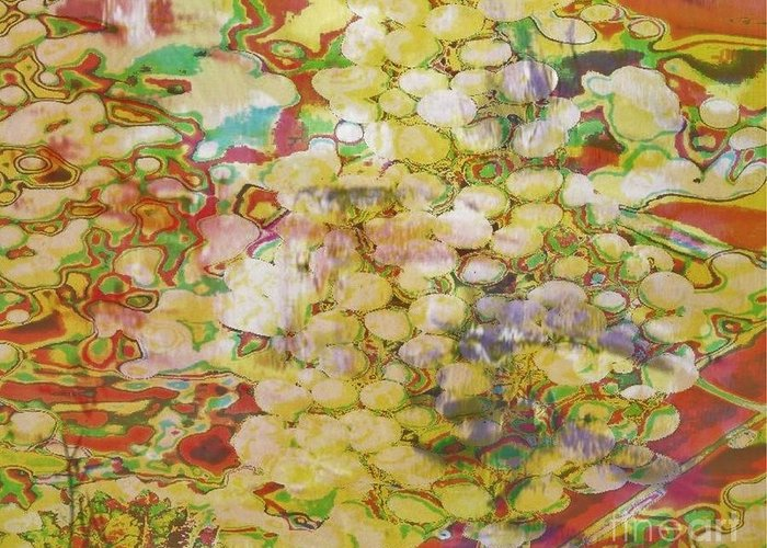 Grapes Greeting Card featuring the painting Grape Abundance by PainterArtist FIN