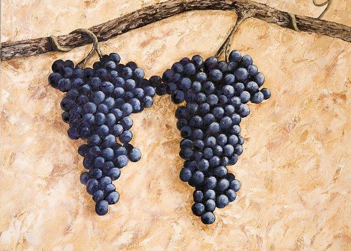 Grape Vine Greeting Card featuring the painting Grape Vine by Darice Machel McGuire