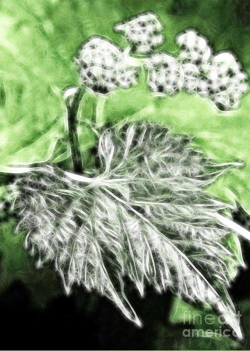 Grape Greeting Card featuring the digital art Grape Vine Leaf by Odon Czintos