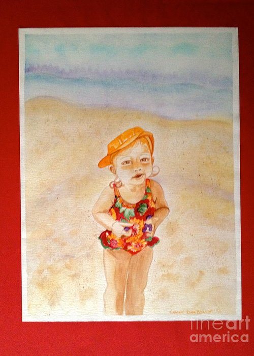 Beach Greeting Card featuring the painting Grapes by Diane Phelps