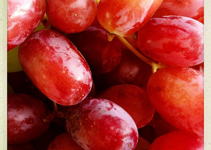 Closeup Greeting Card featuring the photograph Grapes by Les Cunliffe
