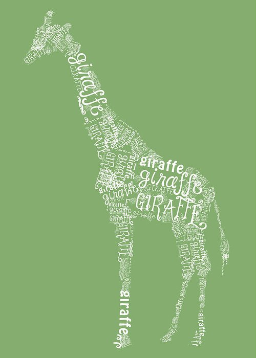 Graphic Greeting Card featuring the digital art Graphic Giraffe by Heather Applegate