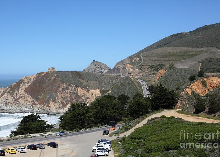 Gray Whale Cove Greeting Card featuring the photograph Gray Whale Cove State Beach Montara California 5d22614 by Wingsdomain Art and Photography