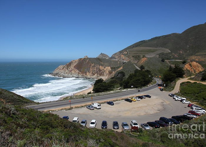 Gray Whale Cove Greeting Card featuring the photograph Gray Whale Cove State Beach Montara California 5d22616 by Wingsdomain Art and Photography