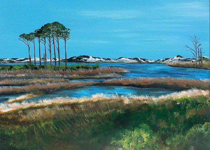 Grayton Beach State Park Greeting Card featuring the painting Grayton Beach State Park by Racquel Morgan