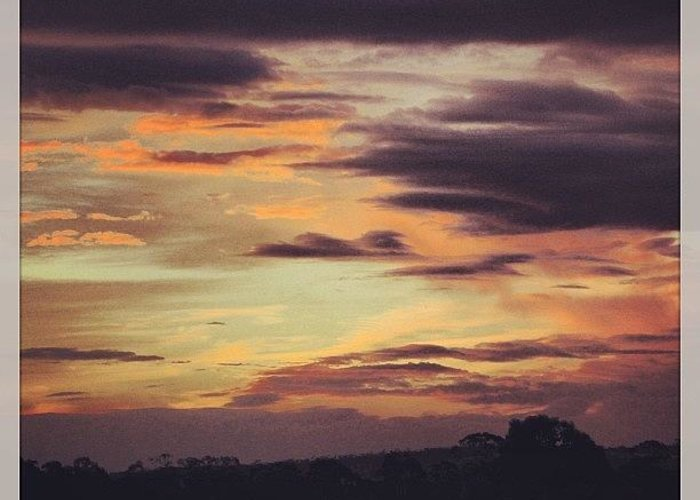 Great Greeting Card featuring the photograph #great #aussie #sunset #clouds #sky by Katie Ball