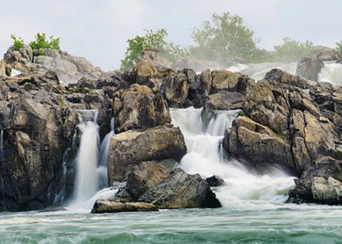 Scenics Greeting Card featuring the photograph Great Falls Panoramic by Ogphoto