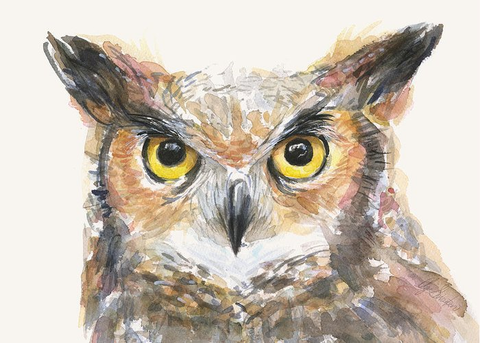 Great-horned Owls Greeting Cards