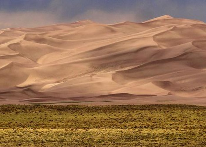 Great Sand Dunes In Colorado Greeting Card featuring the photograph Great Sand Dunes In Colorado by Dan Sproul