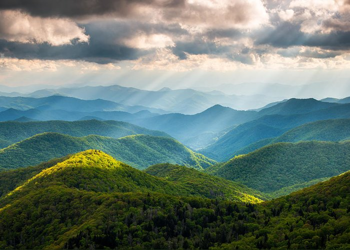 Mountain Landscape Greeting Cards