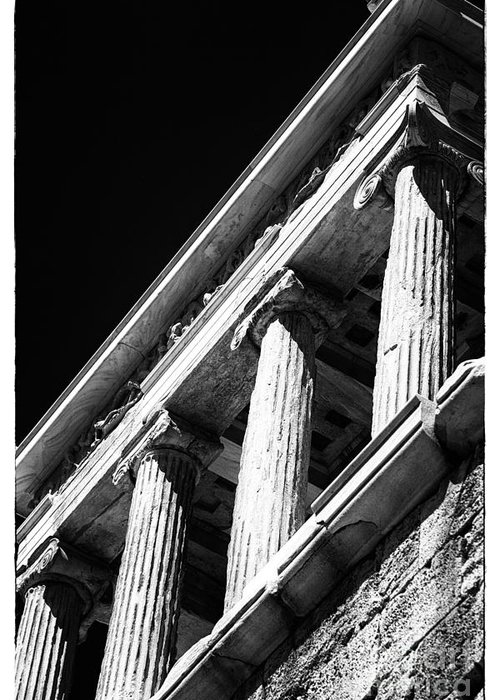 Greek Columns Greeting Card featuring the photograph Greek Columns by John Rizzuto
