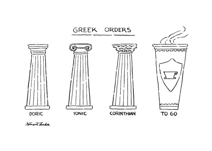 Greek orders greeting card for sale by stuart leeds greek orderstitledrawing of 4 columns doric greeting card featuring the drawing m4hsunfo