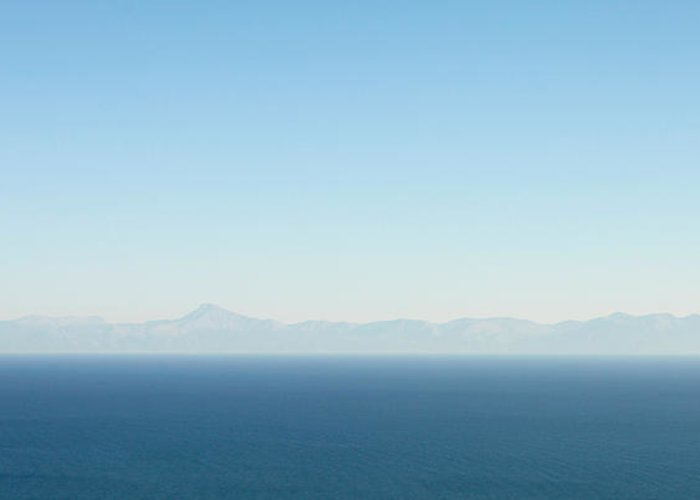 Aegean Greeting Card featuring the photograph Greek Panorama by Tom Gowanlock