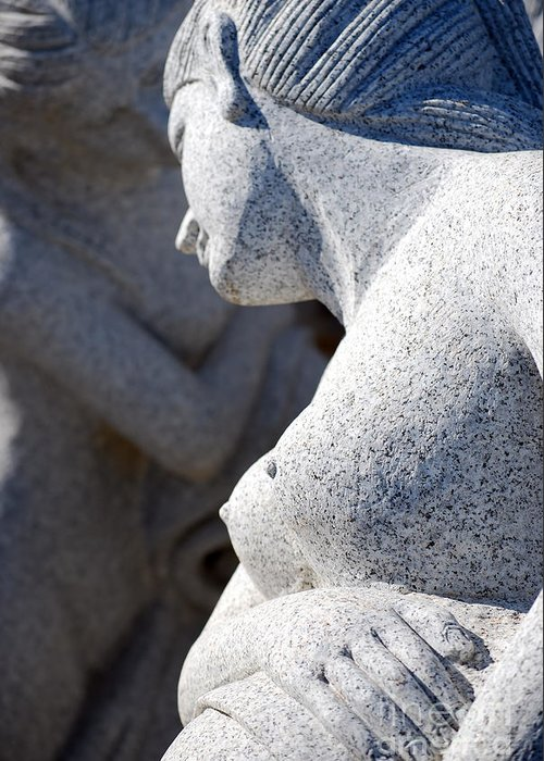 Sculpture Greeting Card featuring the photograph Greek Statues by Antony McAulay