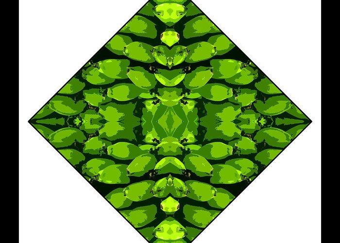 Green Greeting Card featuring the digital art Green Banana by Roberto Alamino