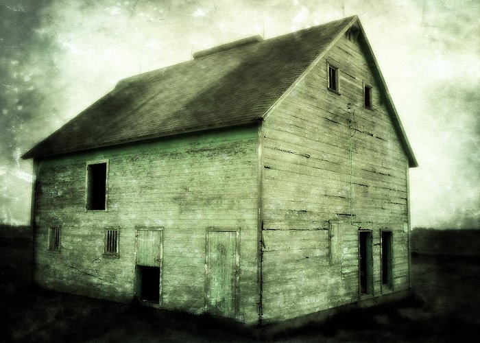 Barn Greeting Card featuring the photograph Green Barn by Julie Hamilton