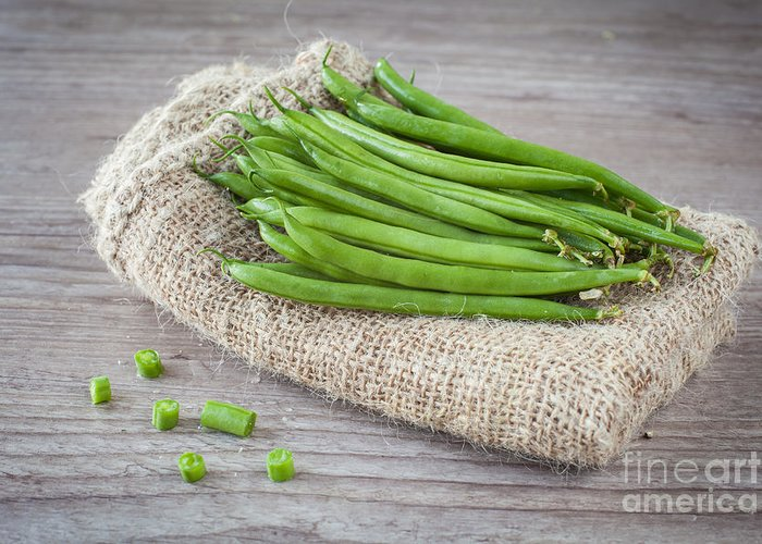 Agriculture Greeting Card featuring the photograph Green Beans by Sabino Parente