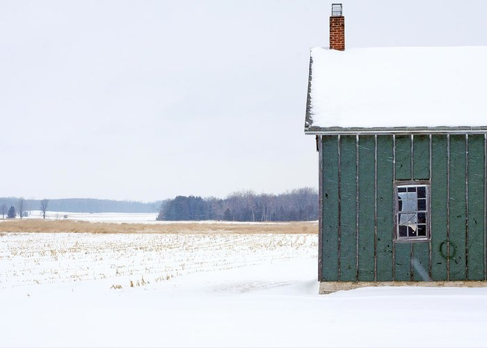 Door County Greeting Card featuring the photograph Green Shed by Ty Helbach