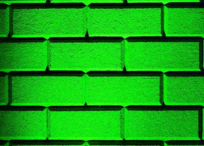 Green Greeting Card featuring the photograph Green Wall by Semmick Photo