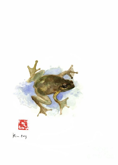 Frog Watercolor Greeting Cards