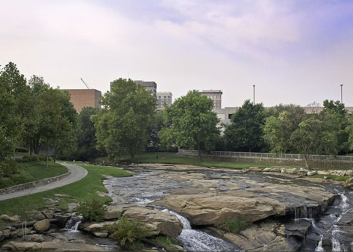 Greeting Card featuring the photograph Greenville 003 by David Waldrop
