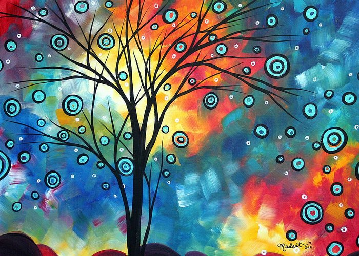 Wall Greeting Card featuring the painting Greeting The Dawn By Madart by Megan Duncanson