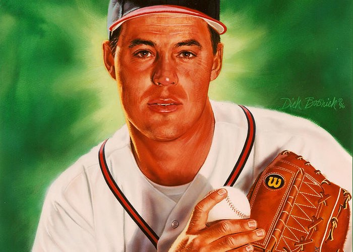 Cy Young Paintings Greeting Cards