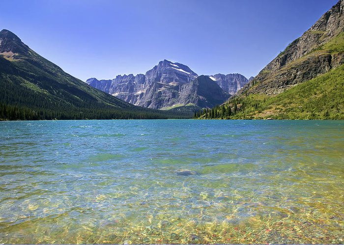 Glacier National Park Greeting Card featuring the photograph Grinnel Lake Glacier National Park by Rich Franco