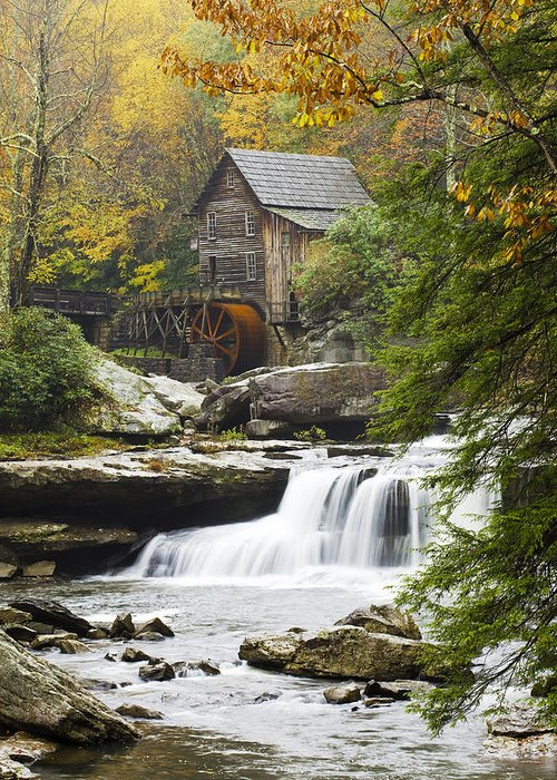 Mill Greeting Card featuring the photograph Grist Mill No. 2 by Harry H Hicklin