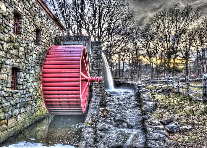 Grist Greeting Card featuring the photograph Grist Mill Sudbury by Adam Green