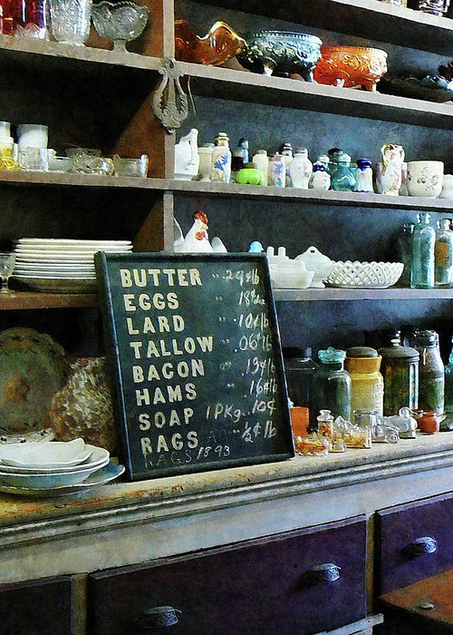 Store Greeting Card featuring the photograph Groceries In General Store by Susan Savad