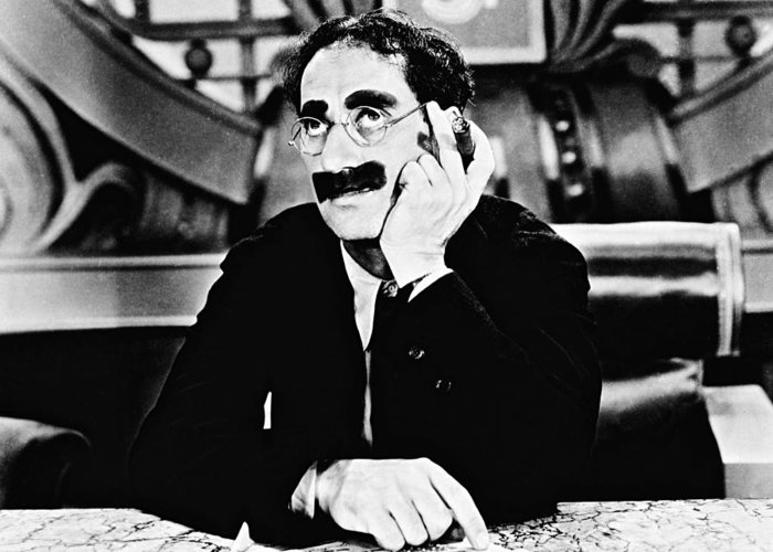 Groucho Marx Greeting Card featuring the photograph Groucho Marx by Silver Screen