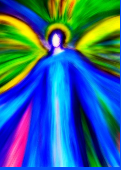 Angels Greeting Card featuring the digital art Guardian Angels by Alma Yamazaki