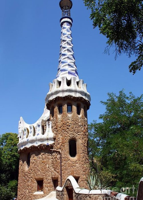 Guell Greeting Card featuring the photograph Guell Park Barcelona by Sophie Vigneault