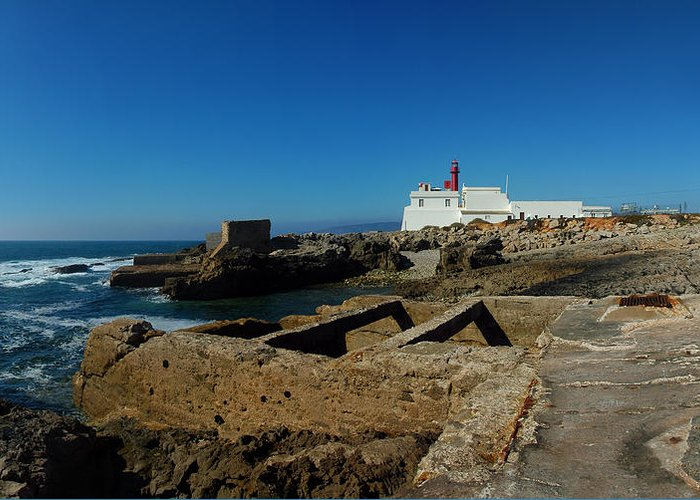 Cascais Greeting Card featuring the photograph Guia Lighthouse by Luis Esteves
