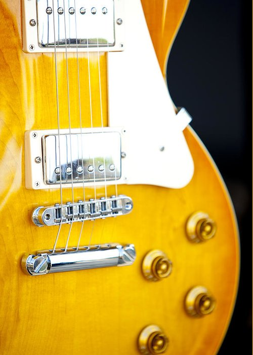 Guitar 2 Greeting Card featuring the photograph Guitar 2 by Karma Boyer
