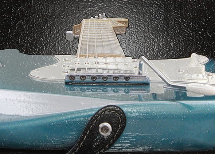 Guitar Greeting Card featuring the photograph Guitar Art by Shoal Hollingsworth