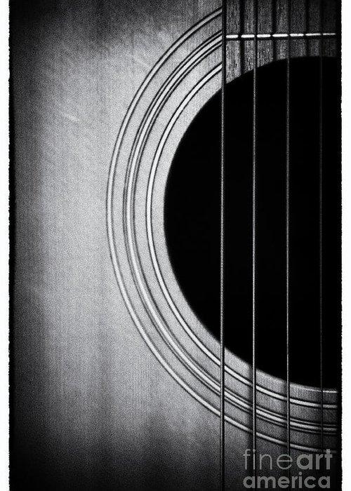 Guitar Greeting Card featuring the photograph Guitar Film Noir by Natalie Kinnear