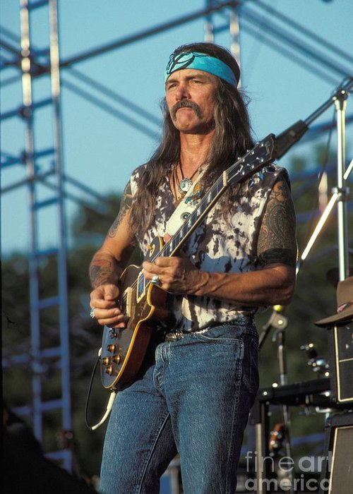 Dickey Betts Greeting Card featuring the photograph Dickie Betts - Allman Brothers Band by Concert Photos