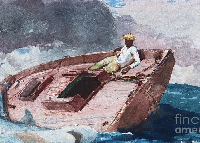 Pd Greeting Card featuring the painting Gulf Stream 2 by Pg Reproductions