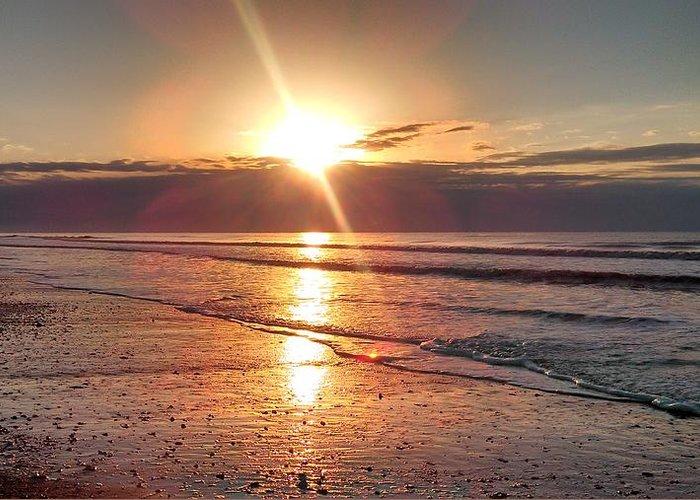 Sunrise Greeting Card featuring the photograph Gulf Sunrise by Debra Wynn