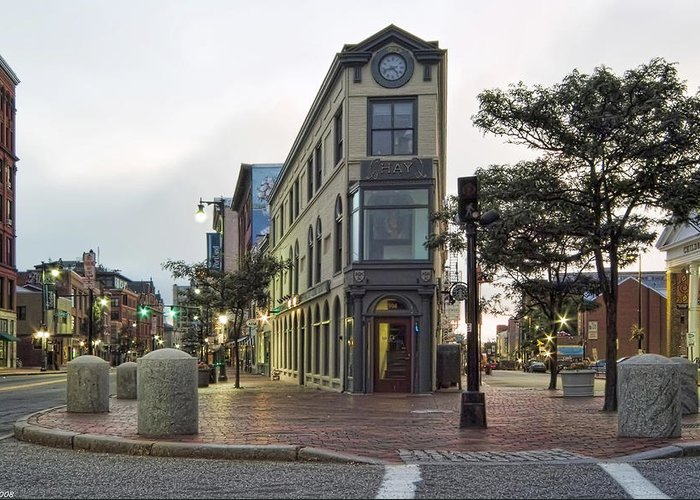 Architecture Greeting Card featuring the photograph H H Hay Building Portland Maine by Richard Bean