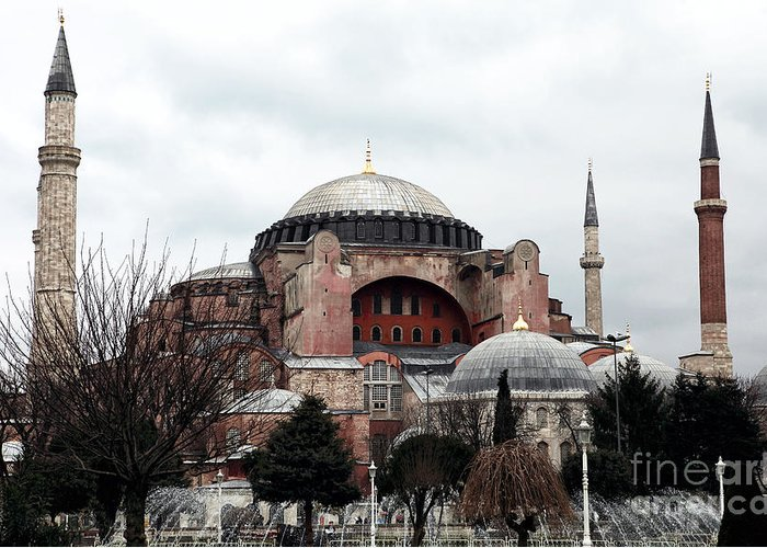 Hagia Sophia Greeting Card featuring the photograph Hagia Sophia by John Rizzuto