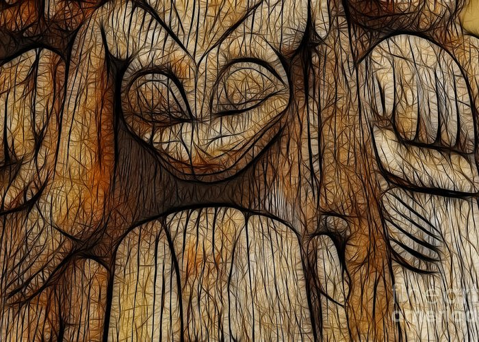 Haida Greeting Card featuring the photograph Haida Totem by Bob Christopher