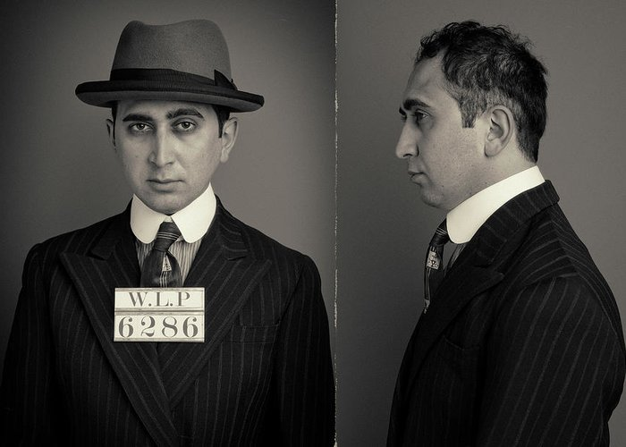 Guilt Greeting Card featuring the photograph Hakan The Boss Wanted Mugshot by Nick Dolding