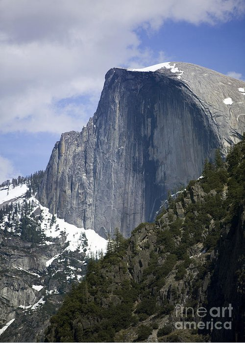 North America Greeting Card featuring the photograph Half Dome by B Christopher